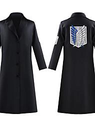 preiswerte -Inspiriert von Angriff auf Titan Pfadfinderlegion Anime Cosplay Kostüme Japanisch Schuluniformen Mantel Für Herren