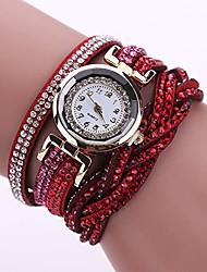 cheap -Women Fashion Watch Girls Quartz Elegant Wrist Watch with Shimmer Rhinestone Trim Strap