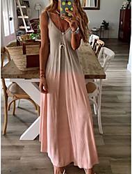 cheap -Women's A-Line Dress Maxi long Dress - Sleeveless Solid Color Summer Elegant 2021 Purple Red Yellow Blushing Pink Light Green Gray Light Blue S M L XL XXL 3XL 4XL 5XL