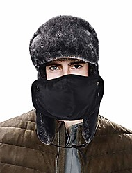 cheap -Winter Trooper Hat for Men Ushanka Hunting Hat Ear Flap Chin Strap and Windproof Mask Unisex (1)