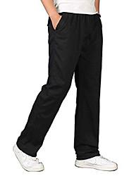 cheap -men's full elastic waist loose fit lightweight workwear pull on cargo pants black