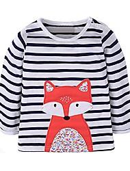 cheap -Infant Girls Kids Long T-Shirts 18 Months Striped Deer