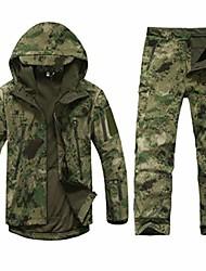 cheap -Tactical Soft Shell Men Army wasserdichter Jagdanzug Outwear Camouflage Shark Skin Military Jacket Pants Anzug Camouflage M