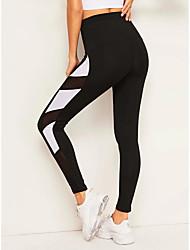 cheap -Women's Sports Leggings Sweatpants Pants Color Block Geometry Full Length Black