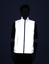 cheap -Men's Sleeveless Reflective Jacket Cycling Jersey Hiking Vest / Gilet Jacket Bike Top Outdoor Quick Dry Lightweight Breathable Reflective Strips Spring Summer Fall Sports Clothing Apparel / Athleisure