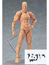 cheap -6 Style Body Chan Body Kun Pale Men 1Pcs With Accessories Skin colour 15cm Figma Bandai PVC Action Figure Figma Men