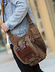 cheap -men canvas retro travel cycling crossbody bag chest bag military messenger school travel hiking satchel