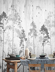 cheap -Ink Forest Wallpaper Self-Adhesive Removable Peel and Stick Wallpaper Decorative Wall Covering for Wall Surface Cover Easy to Apply