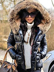 cheap -womens black down parka quilted jacket winter warm thicken lined coat outwear windbreaker waterproof anoraks …