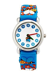cheap -Kids Sports Watch Girls Boys 3D Cartoon Silicone Children Watches Time Learner Mini 25mm Dial Birthday Christmas Gift