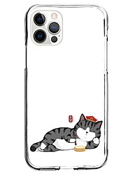 cheap -Cute Cat Graphic Case For Apple iPhone 12 iPhone 11 iPhone 12 Pro Max Unique Design Protective Case Shockproof Back Cover TPU