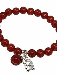 cheap -feng shui handmade chinese year of 2020 zodiac red agate beads bracelet (with a  gift pouch) (rat)