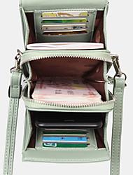 cheap -women 8 card slots phone bag solid crossbody bag shoulder bag