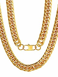 cheap -Solid Gold Chain for Men Chain 22 inch