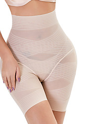 cheap -Corset Women's Control Panties Seamless Simple Style Breathable Comfortable Classic Ruched Butt Lifting Tummy Control Plain Stripes Solid Color Seamed Not Specified Nylon Polyester Christmas / Sport