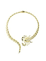 cheap -women fashion retro diamond studded collars short scorpion necklace jewelry accessories (gold)