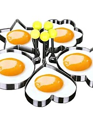cheap -5pcs Set Fried Egg Mold Pancake Rings Shaped Omelette Mold Mould Frying Egg Cooking Tools Kitchen Supplies Accessories Gadget