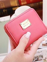 cheap -women mini short wallet card holder leather coin bag money purse handbag clutch