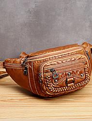 cheap -women solid rivet vintage crossbody bag chest bag shoulder bag
