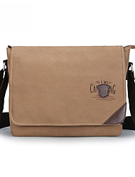 cheap -Men's Bags Canvas Messenger Bag Solid Colored Office & Career Canvas Bag Black Blue Khaki Light Gray