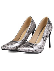 cheap -Women's Wedding Shoes Stiletto Heel Pointed Toe Wedding Pumps Wedding Daily PU Synthetics Black Pink Silver