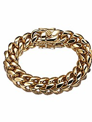 cheap -miami cuban link bracelet 6-18mm, round, 18k gold with inlaid stainless steel, premium fashion jewelry, thick layers help resist tarnishing, 8.5-10 inches