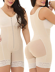 cheap -large size woman one-piece shapewear front zipper tummy chest hips shaping underwear d068