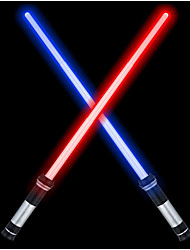 """cheap -Laser Sword'S for Kids, Double Bladed Light Saber Toy with Sounds (Motion Sensitive) - 26"""""""" – Perfect for Party – Xmas Presents (2 Pack)"""