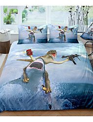 cheap -Riding Shark 3-Piece Duvet Cover Set Hotel Bedding Sets Comforter Cover with Soft Lightweight Microfiber, Include 1 Duvet Cover, 2 Pillowcases for Double/Queen/King(1 Pillowcase for Twin/Single)