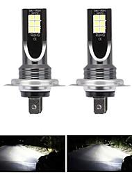 cheap -2pcs / set H7 80W LED Car Headlight Car Front Bulb Super Bright White Beam 6000K 12V Car Modeling Fog Light Kit