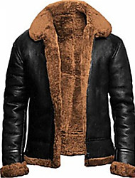 cheap -mens flying b3 bomber brown fur jacket (medium