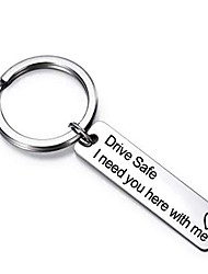 cheap -Drive Safe Keychain Valentines Gift Day Father's day Birthday Gift I Need You Here With Me for Husband Dad Boyfriend