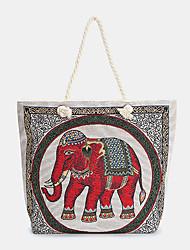 cheap -women elephant printed large capacity bohemian tote handbag