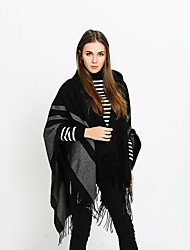 cheap -Sleeveless Ladies / Shawls Imitation Cashmere Party / Evening / Event / Party Shawl & Wrap / Women's Wrap With Tassel / Stripe