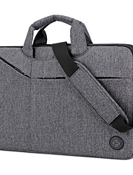 cheap -Unisex Waterproof Nylon Laptop Bag Zipper Solid Color Daily Office & Career Red Gray