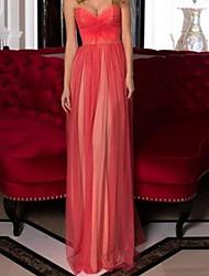 cheap -Sheath / Column Minimalist Sexy Engagement Formal Evening Dress Sweetheart Neckline Sleeveless Floor Length Satin with Pleats 2021