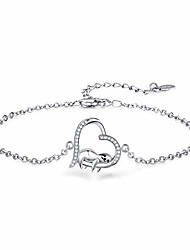"""cheap -smile sloth bracelet for girl sloth gift  silver white gold plated funny unique novelty cute animal women bracelet,birthday gifts for her(7"""" + 2"""")"""