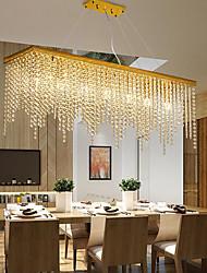 cheap -80cm Cryatal Chandelier LED Pendant Light Modern Luxury Gold Island Light Dining Room Restaurant Living Room Tricolor Light Source Stainless Steel Electroplated 110-120V 220-240V