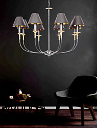cheap -5-Light 48cm(21.6 Inch) Candle Style Chandelier Metal Fabric Painted Finishes Vintage Retro Country 220-240V