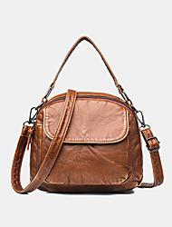 cheap -women vintage faux leather shoulder bag crossbody bag trend bag