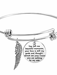 cheap -Memory Bracelet with Guardian Angel Loss Jewelry Remember Loved One You Left Me Beautiful Memories Bracelet (Memory bracelet S)