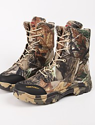 cheap -Men's Camo Hunting Shoes Hiking Shoes Hiking Boots Waterproof Windproof Breathable Rain Waterproof Camo / Camouflage Hunting Hiking Autumn / Fall Spring Gray+Green / Anti-Slip