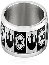 cheap -men's empire rebel alliance logo stainless steel ring, size 8