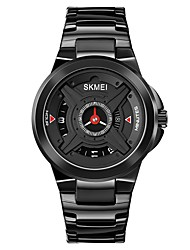 cheap -SKMEI Men's Steel Band Watches Analog Quartz Modern Style Large Dial / One Year / Stainless Steel / Japanese