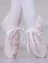cheap -Women's Jazz Shoes Heel Flat Heel Pink Lace-up Adults' / Performance