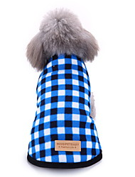 cheap -Dog Cat Jumpsuit Pajamas Plaid Fashion Casual / Sporty Casual / Daily Dog Clothes Puppy Clothes Dog Outfits Breathable Red Blue Pink Costume for Girl and Boy Dog Cotton XS S M L XL XXL