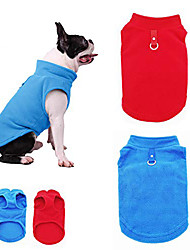 cheap -dog fleece vest, cozy soft winter coat,warm dog apparel,cold weather small dog pullover fleece jacket sweater with leash ring l