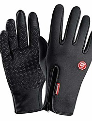 cheap -1 pair of winter thermal gloves, motorcycle gloves, windproof ski gloves, anti-slip touchscreen gloves, black - p