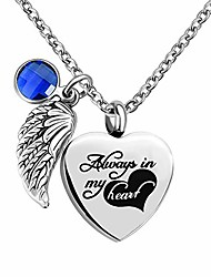 cheap -Urn Necklace Cremation Jewelry Memorial Necklace for Human Ashes Always in My Heart