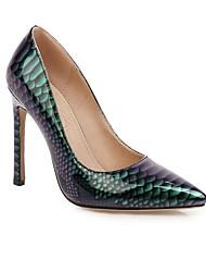 cheap -Women's Wedding Shoes Stiletto Heel Pointed Toe Wedding Daily PU Synthetics Black Yellow Blue